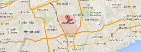 Levittown Long Island map 11756
